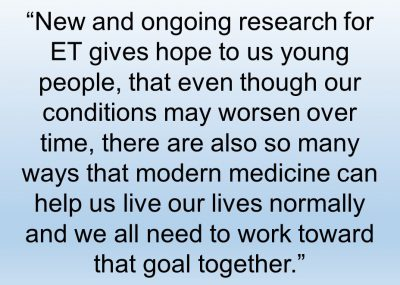 Quote from Deirdre Maciak about the importance of ET research