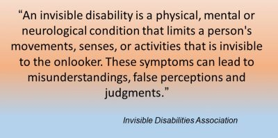 Quote about invisible disabilities